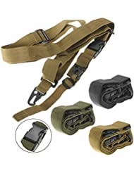 3 punto cinturón elástico CAMTOA engranaje Correa para cinturón militar táctico de Airsoft caza Negro negro
