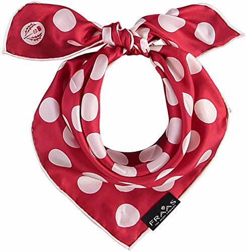 FRAAS Nickituch mit Polka Dot-Print aus reiner Seide Rot