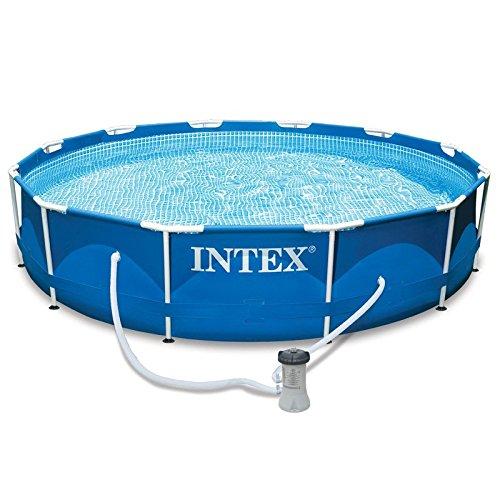 INTEX MetalFrame Aufstellpool mit Metallrahmen und Filterpumpe Ø 366x76cm Pool Schwimmbecken Swimming Pool Aufstellpool