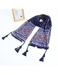 ZLL Bufanda de Sue romántica nacional, flores grandes de color cálidos, mantones, protector solar