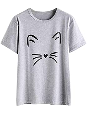 FAMILIZO Camisetas Mujer Manga Corta Camisetas Mujer Tallas Grandes Camisetas Mujer Verano Blusa Mujer Sport Tops...