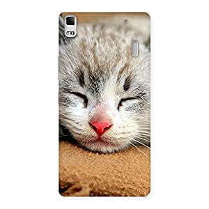 Stylish Sleeping Cat Multicolor Back Case Cover for Lenovo A7000