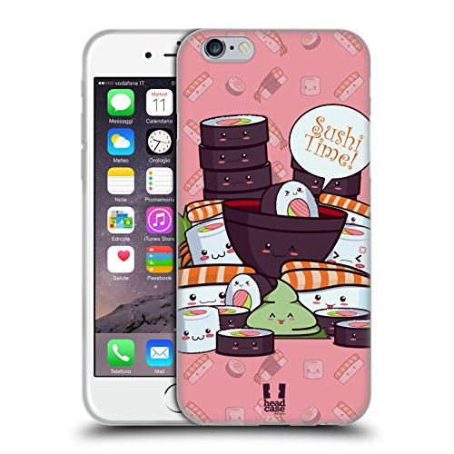 Head Case Designs Maki Temps De Sushi Étui Coque en Gel molle pour Apple iPhone 5 / 5s / SE Groupe De Sushi