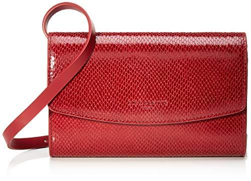 Liebeskind Berlin Damen Valentine Special Clutch Small Rot (Italian Red), 5x14x21 cm (Snake-clutch-handtasche)