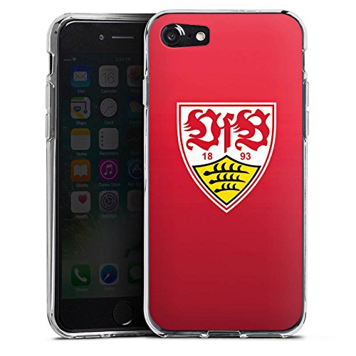 Apple iPhone 7 Hülle Case Handyhülle VfB Stuttgart Fanartikel 1893 Fussball Silikon Case transparent