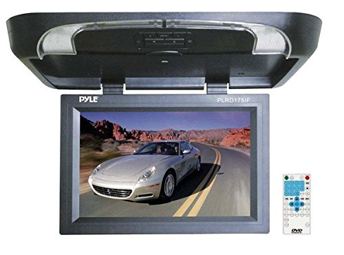 Pyle plrd175if 43,2 cm Flip Down Monitor mit Built in DVD/SD/USB-Player mit Wireless FM Modulator und IR Transmitter
