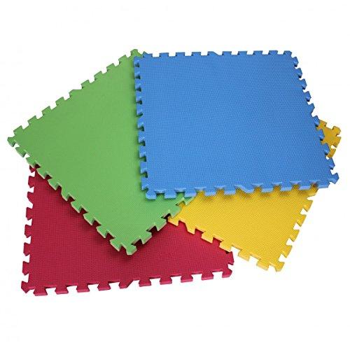 Prinzbert 8 pièces mat eVA tapis de sol 60 x 60 x 2 cm avec coins multicolore