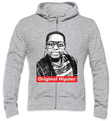 Orginal Hipster Steve Urkel Swag Hype Mens Zipper Hoodie XX-Large