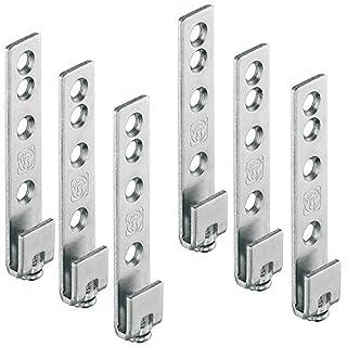Gedotec Schrankaufhänger Metall Schrankaufhängung Küche sichtbar für Wandschiene Oberschrank   Stahl verzinkt   Tragkraft: 120 kg   6 Stück - Aufhänger für Hänge-Schiene zum Schrauben