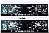 FC Bayern München Kennzeichenhalter/Nummernschildhalter ** 2er Set.*Top*