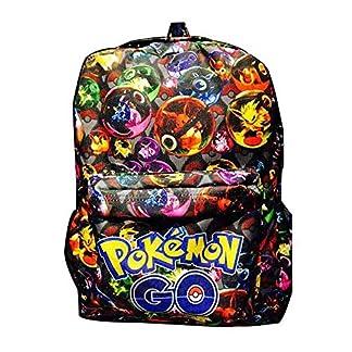 51Z7FhixHyL. SS324  - Mochila Pokemon Escolar, Mochila Pokemon Go Pikachu Eevee Cuero de PU para Infantil Niños y Niñas Unisex Bolsa Portátil para Mujeres Hombre Viaje Backpack para Estudiantes Adolescentes