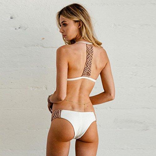 Vovotrade Banda Femminile Fasciatura Bikini Imbottita, Imposta il Costume da Bagno bianca