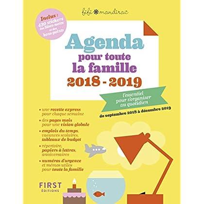 Agenda pour toute la famille 2018/2019 - L'essentiel pour s'organier au quotidien