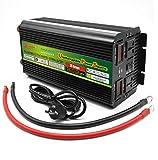 Huashao 2000 W Wechselrichter (DC 12 V / 24 V auf 220 V Wechselstrom) Modifizierter Sinus-Wechselrichter mit Multifunktions-Wechselstromsteckdosen und USB-Ausgangsspannungsanzeige,12Vto220V