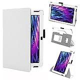 Tasche Hülle für Medion Lifetab S10366 S10365 S10346 Schutzhülle Tablet Cover Case Bag, Farben:Weiss