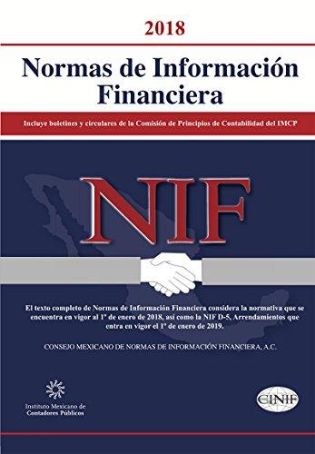 Normas de Información Financiera 2018 por Consejo Mexicano de  Normas de Información Financiera