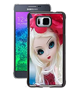 Fuson 2D Printed Cute Doll Designer Back Case Cover for Samsung Galaxy Alpha - D723