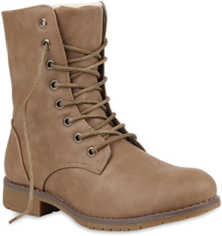 Stiefelparadies Damen Schnürstiefeletten Warm Gefüttert Modell Flandell  2018 Letztes Modell Gefüttert  Mode Schuhe Billig Online-Verkauf 361c32