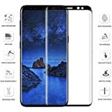 Mobi Case Tempered Glass 9H 5D Curved Full Screen Size Edge To Edge Screen Protector For Samsung Galaxy S9 Plus (5D Black Glass)