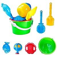 YBWZH 6Pcs Sand Bucket Beach Toys Set Toys Castle Bucket Spade Shovel Rake Water Tools For Kids