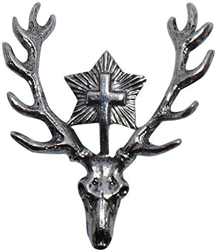 Anstecker Jagdabzeichen Jagd-Abzeichen Hutanstecker Jäger Brosche Pin deer Hutschmuck für den Trachtenhut zum Jagen Trachtenanstecker (Forest Green Velvet)