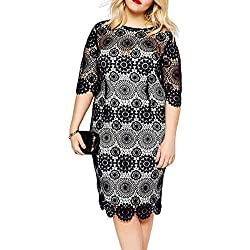 SunIfSnow Damen Etui Kleid, Einfarbig Gr. xl, schwarz