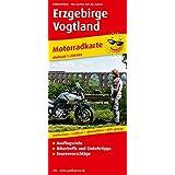 Erzgebirge - Vogtland: Motorradkarte mit Ausflugszielen, Einkehr- & Freizeittipps und Tourenvorschlägen, wetterfest, reissfest, abwischbar. 1:200000