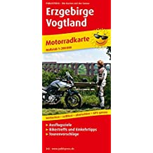 Erzgebirge - Vogtland: Motorradkarte mit Ausflugszielen, Einkehr- & Freizeittipps und Tourenvorschlägen, wetterfest, reissfest, abwischbar. 1:200000 (Motorradkarte / MK)