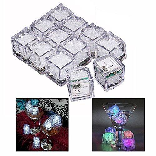 h Dekorative LED Ice Cubes Quick Flashing LED Eiswürfel Schnelle Blinkenden Dekorative Multicolor Würfel - Set von 12 ()