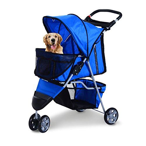 1bd45b3b37e5 Pawhut Pet Travel Stroller Cat Dog Pushchair Trolley Puppy Jogger Carrier  Three Wheels - Happy Dog Care