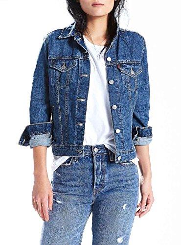 Levis Jeans-jacke-frauen (Levi's® Damen Jeansjacke blue (82) XL)