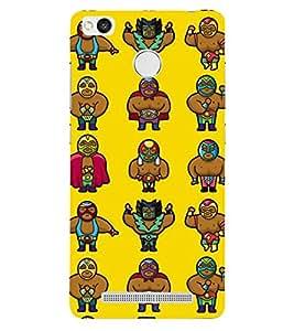 Fiobs Designer Back Case Cover for Xiaomi Redmi 3s :: Xiaomi Redmi 3s Prime :: Xiaomi Redmi 3 Plus (Multiple Monkey Symbol Yellow)
