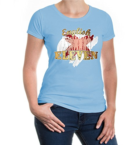 buXsbaum® Girlie T-Shirt English Eleven Skyblue-z-direct
