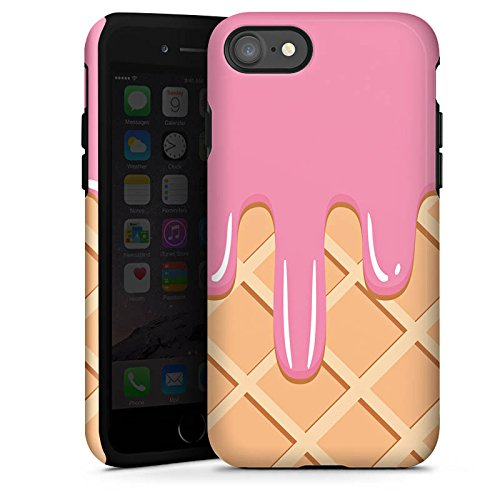 Apple iPhone X Silikon Hülle Case Schutzhülle Eis Waffel Eiscreme Tough Case glänzend