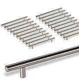 20 x SO-TECH® G18 Tirador de barra Manija barral Manija de mueble Tubo de Acero fino Ø -barra 10 mm/Distancia de agujeros 224 mm