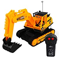 hefeibiaoduanjia 2 Channel 360 Electric Remote Control Excavator Model Toy Children Gift