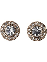 Pilgrim Jewelry Damen-Ohrstecker Messing Pilgrim Damen-Ohrstecker aus der Serie Classic roségold beschichtet,weiß 0.9 cm 601334063