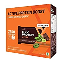 RiteBite Max Protein Active Green Coffee Beans Bars 420g Pack of 6 (70g x 6)