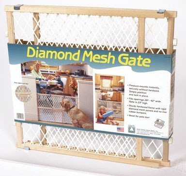 Diamond Mesh Wood Safety Gate (Pack of 3) by North States Industries