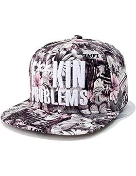Kenmont alta moda hip-hop Floral flores gorras de béisbol Béisbol Sombreros Para Niñas Mujer Ladies