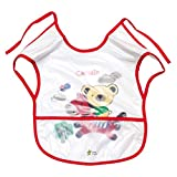 #10: Rachna's T-shirt Style Knot Closure Saliva Towel Burp Cloth Baby / Infant / Kids Terry Feeding Bib with Crumb Catcher - 531 - Red - Upto 1 Year