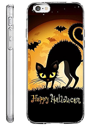 iPhone 6S Plus Hard Cover 14 cm Ultra Slim Dünn Happy Halloween, Style-16 (Einfachen Halloween Ideen Behandlung)