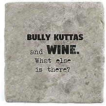 Bully Kuttas e vino cosa c' è? Sottobicchiere–mattonelle di marmo drink