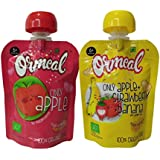 Ormeal Combo Pack Of Only Apple Puree And Apple+Strawberry+Banana Puree