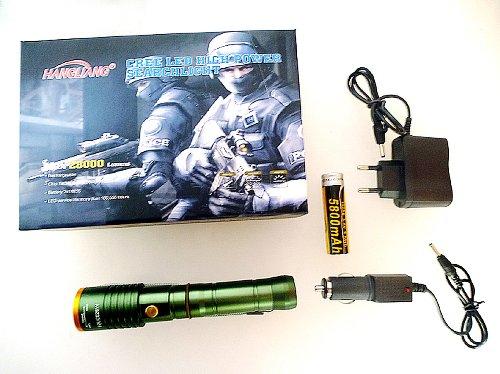 Torcia Cop polizia CREE LED Molto Luminoso in acciaio inox USB batteria 200Lumens