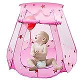 LEADSTAR Kinderspielzelt Spielhaus Kinderzelt Prinz Zelt Prinzessinnenzelt Schloss mit Tragetasche für Drinnen und Draußen (Rosa)