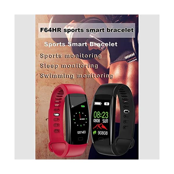 Pulsera impermeable Bluetooth 4.0fitness Tracker podómetro Monitor de ritmo cardiaco del sueño mallalah deporte reloj Smart Watch, color Negro 5