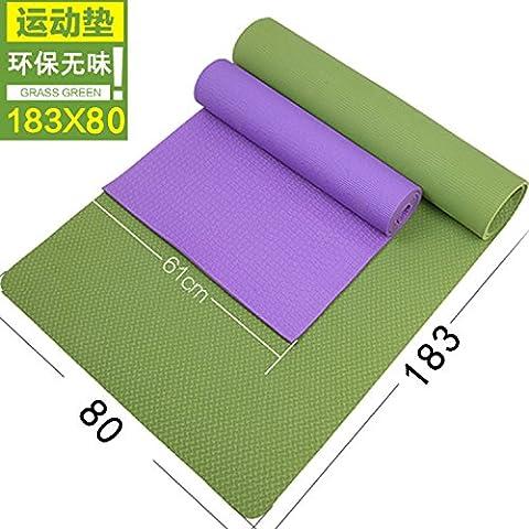 Imbottitura di tappetino antiscivolo tappetino fitness TPE rispettosi dell'ambiente Materassini
