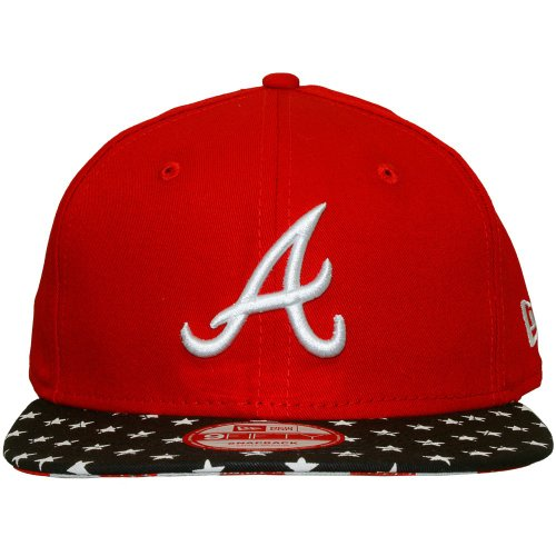 New Era - Casquette Snapback Homme Atlanta Braves 9Fifty Star N Stripes - Taille S/M