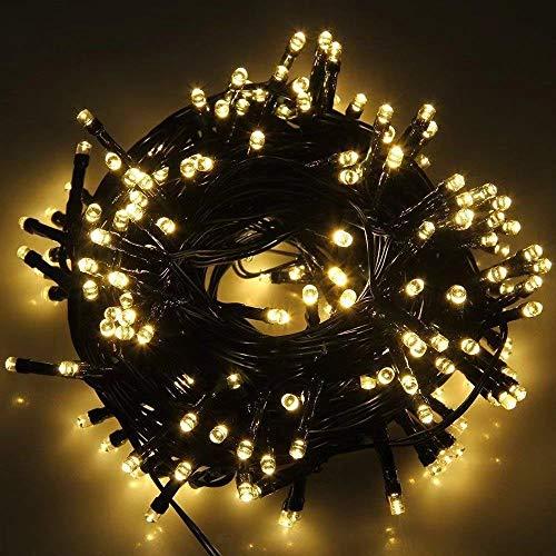 100 LED Lichterkette Warmweiß,10m Outdoor Lichterkette Warmweiß 8 Modi Dimmbar Wasserdichte Ip65...